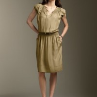 Apparel Classic Clothing at Talbots - Smocked silk dress