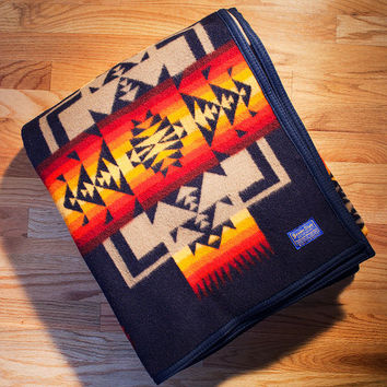 Native American Blanket, Indigo Blanket, Chief Joseph Blanket, Pendleton® Blanket