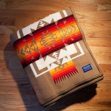 Indian Blanket, Chief Joseph Blanket, Khaki, Pendleton® Blanket