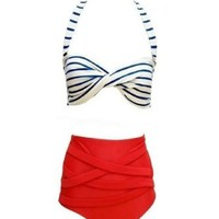 Ninimour- Cutest Retro Swimsuit Swimwear Vintage Push up High Waist