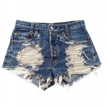 Women's Vintage Levi's Distressed Stone Dreamer Trendy Shorts