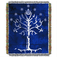 The Lord of the Rings Tree of Gondor Woven Tapestry Throw Blanket