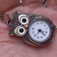 hoot owl pocket Watch locket necklace by sweethearteverybody