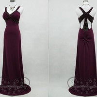 Purple prom dresses,Cheap cocktail dresses,Sexy  quinceanera dresses,Charming party dresses,Chiffon homecoming dresses.Unique back design!