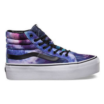 Vans Cosmic Galaxy Sk8-Hi Platform Womens Shoes Black  In Sizes