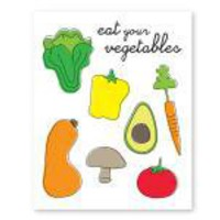 Eat Your Veggies Recycled Print