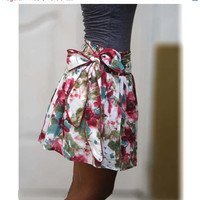 ON SALE Blueberry splash abstract floral mini skirt by LoNaDesign