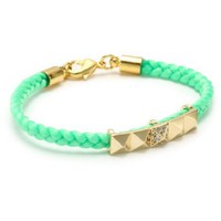Tai Green Pyramid Charm Bracelet