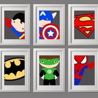 Back by popular demand: Pick any 3, NEW super hero boys & girls prints with a modern twist