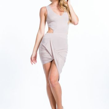Drape Expectations Cut-Out Dress