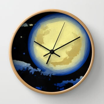 La Luna Wall Clock by Texnotropio