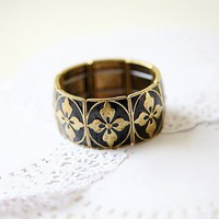 Fashion Stretch Flower Bangle Bracelet at online fashion jewelry store Gofavor