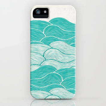 The Calm and Stormy Seas iPhone & iPod Case by Pom Graphic Design