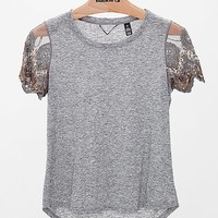 BKE Boutique Slub Fabric Top