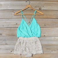 Caravan Romper in Mint