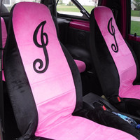 Custom car seat covers. 2 front seat covers. Personalize your car. Can choose from many colors.