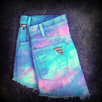 Vintage High Wasited Tie Dye Studded Levi's by TrueBlueDryGoods