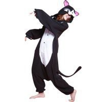 Black Cat Plush Funny Unmasked Kigurumi Pajama Costume [TQL120329034] - $74.99 : Cosplay, Cosplay Costumes, Lolita Dress, Sweet Lolita