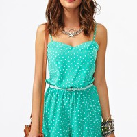 Confetti Dot Romper in What's New at Nasty Gal