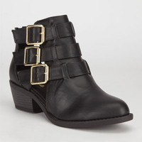 Soda Junia Womens Booties Black  In Sizes