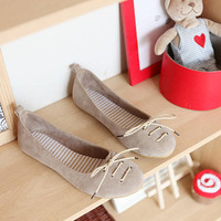 Wholesale Korean version new comfortable belt flat shoes Z-XY-A-8 grey - Lovely Fashion