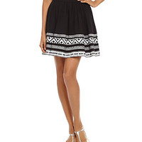 TWO by Vince Camuto Tribal-Embroidered Flared Skirt | Dillard's Mobile