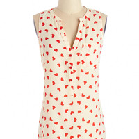ModCloth Darling Mid-length Heart from the Start Top
