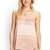 Geo Watercolor Print Cami