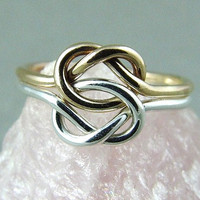 Double Love Knot Ring / Mother Daughter Ring by fallingleafjewelry