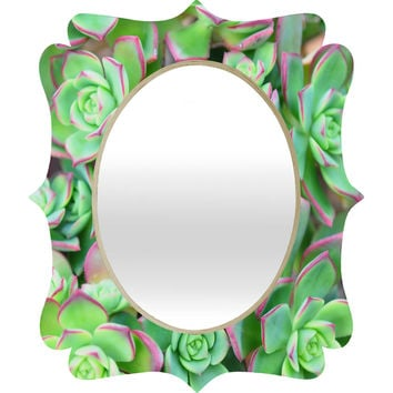 Lisa Argyropoulos Succulents Color Quatrefoil Mirror