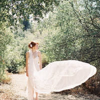 Wedding, Bridal Veil, Chantilly Lace, Lace Veil, Tulle, Ivory, Cathedral Length Veil - Style 217