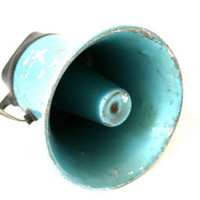 Could You Speak Up a Bit Vintage Loud Speaker by birdneststudio