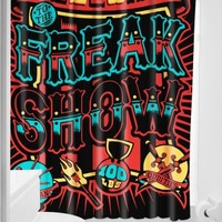 Freak Show Shower Curtain Sourpuss
