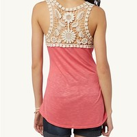 Crochet Back Slub Tank