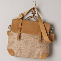 Shimmered Jute Satchel