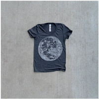 My Moon My Man Tshirt  spring fashion  womens XL  by blackbirdtees