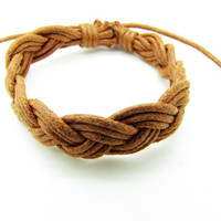 Purple Cotton Ropes Woven Women rope jewelry by braceletcool