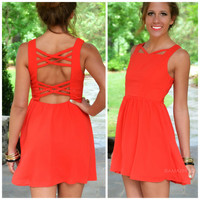 Greystone Red Caged Back Sleeveless Dress