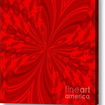 Abstract Butterfly Red Acrylic Print