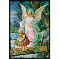 Joy Carpets Guardian Angel Rug - 1424-D - Educational Rugs - Area Rugs by Type - Area Rugs