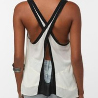 UrbanOutfitters.com &gt; Silence &amp; Noise Colorblock Crossback Tank Top