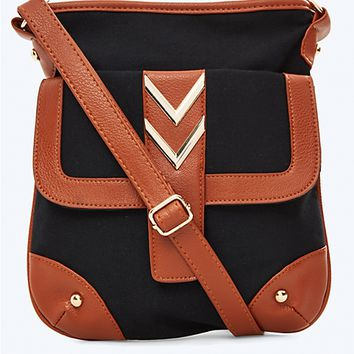 Chevron Hardware Crossbody