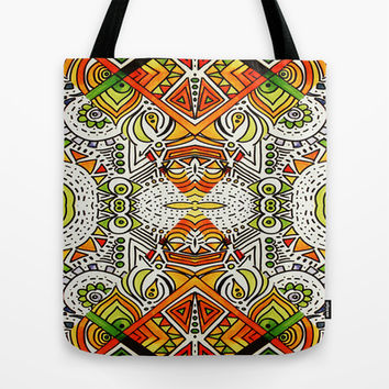 Seeing Tribe Tote Bag by DuckyB (Brandi)