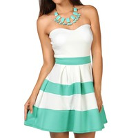 Strapless Color Block