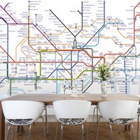 London Underground Tube Map Wallpaper from Watts London | Made By Watts London | £75.00 | BOUF