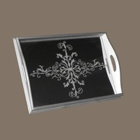 Robert M. Weiss TRG38MD-VEN Venetian Medium Rectangular Decorative Tray - Decor Universe