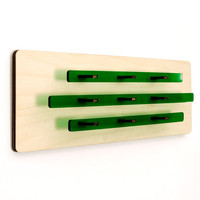 Deco Chevron - Acrylic and Wood Hanging Wall Art - Modern Vivid Green Sculpture Making for Great Minimal Art Deco Home Decor