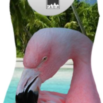 Pink Flamingo Swimsuit created by ErikaKaisersot | Print All Over Me