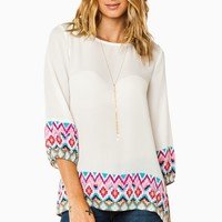 ShopSosie Style : Louiza Blouse in Tribal Pink