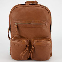 T-Shirt & Jeans Alicia Faux Leather Backpack Cognac One Size For Women 23287640901